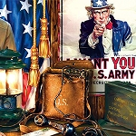 UNCLE SAM ARMY Diamond Painting Kit Paint with Diamonds Kit